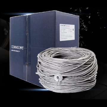 安普网联 原装超五类网线(0.51±0.02mm)非屏蔽网线箱线 蓝箱 外径4.6mm 305米 6-219586-4
